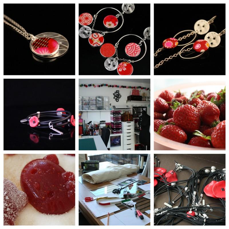 Bijoux fantaisie rouge pour une semaine à l'atelier #83