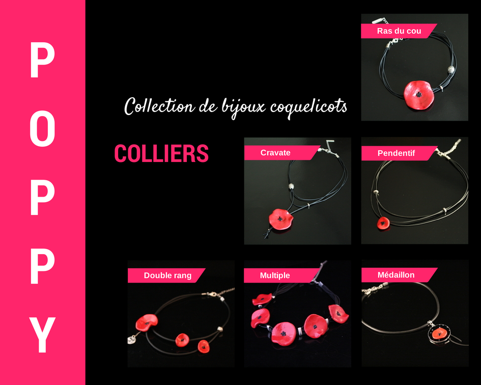 Colliers coquelicot