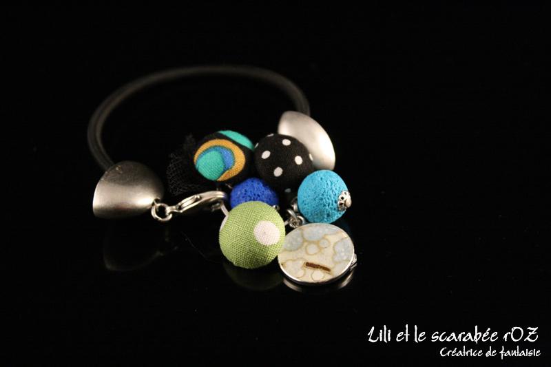 Bracelet fantaisie de la collection Memory Lili et le scarabée rOZ