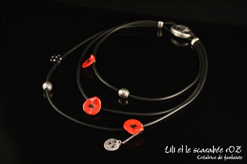 Collier triple - collection Poppy
