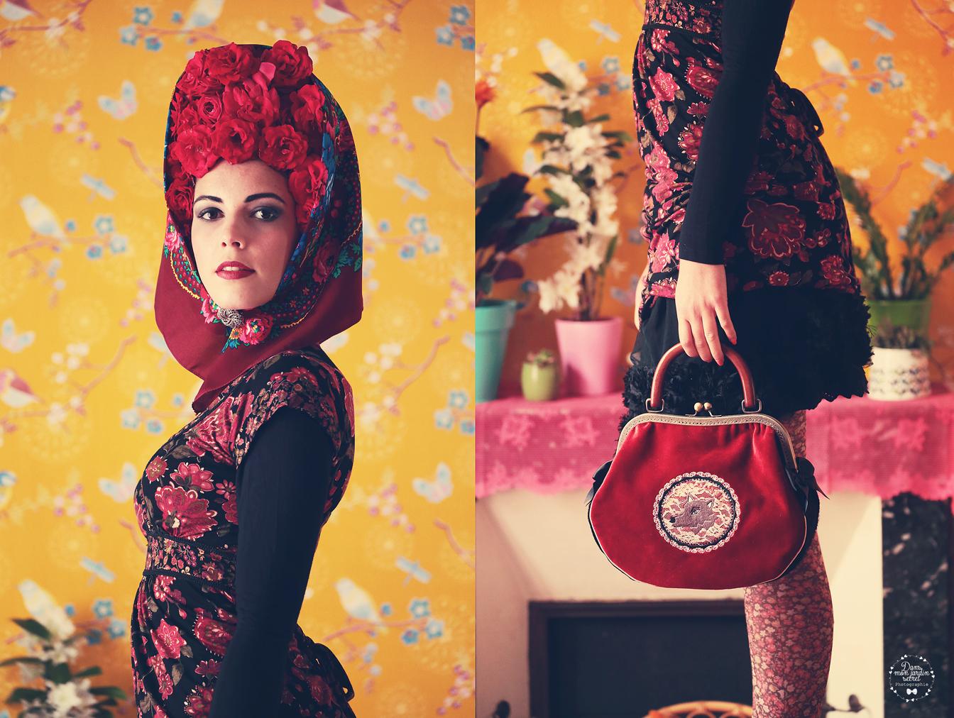 sac rétro bohème chaperon rouge gypsy
