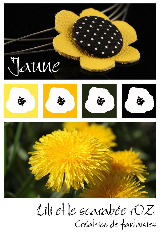 Fleurs jaunes - Lili et le scarabée rOZ