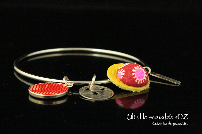 Bracelet jonc Circus vitaminé - Lili et le scarabée rOZ
