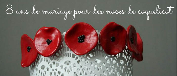8 ans de mariage pour des noces de coquelicots. Black Bedroom Furniture Sets. Home Design Ideas
