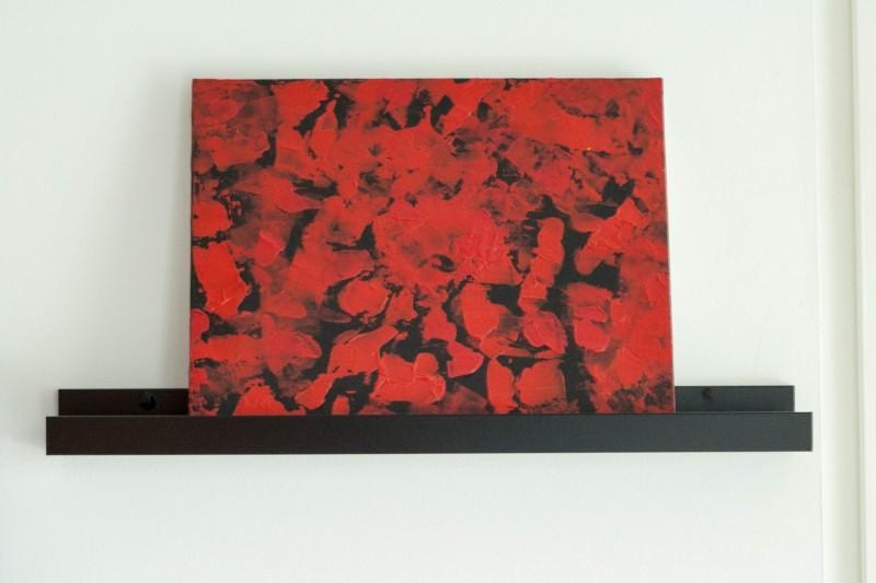 Tableau coquelicots, peinture acrylique - Lili et le scarabée rOZ