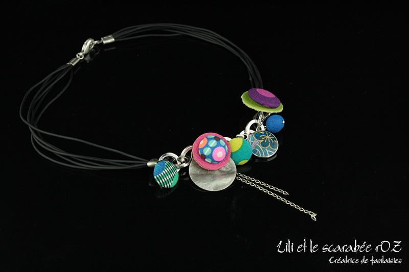 Collier Farandole - Lili et le scarabée rOZ