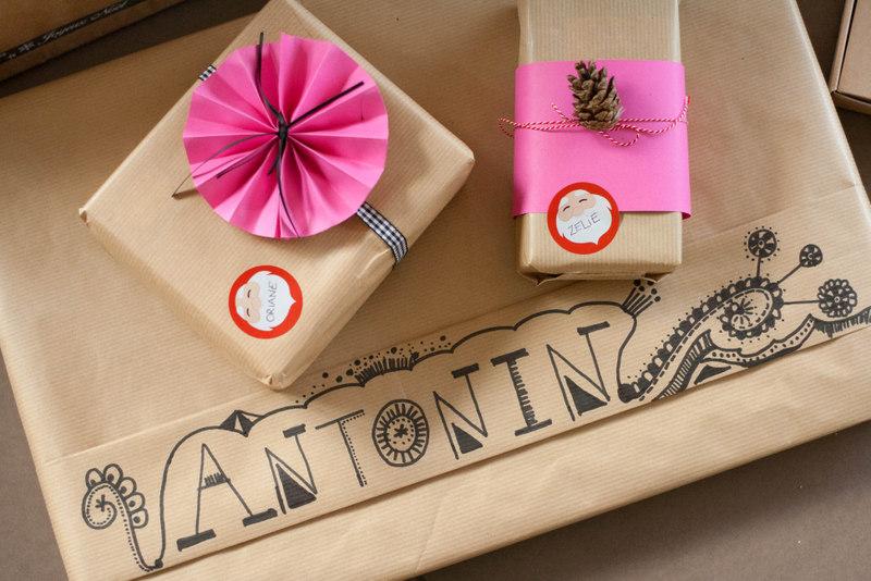Paquets cadeaux colorés #DIY