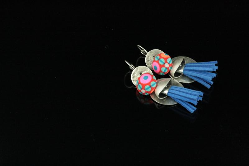 Boucles d'oreilles féerie nomade - Lili et le scarabée rOZ