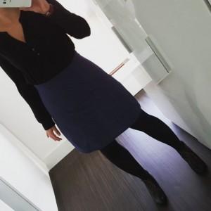 Jupe taille haute Anemone Deer and Doe et blouse noire