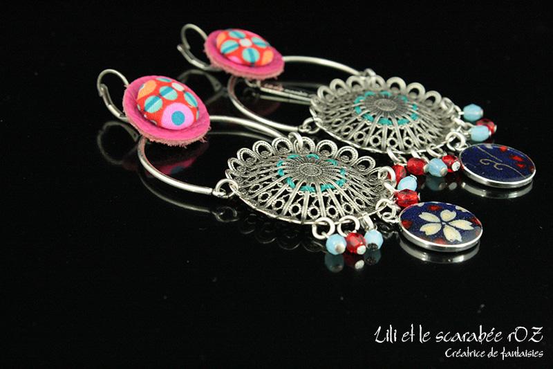Boucles d'oreilles XXL Bohème - Lili et le scarabée rOZ