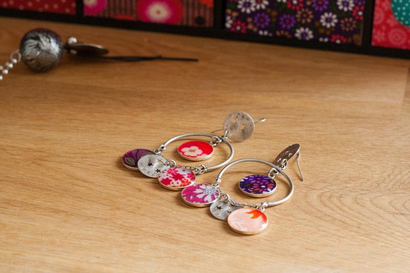 Boucles d'oreilles colorées Lili et le scarabée rOZ