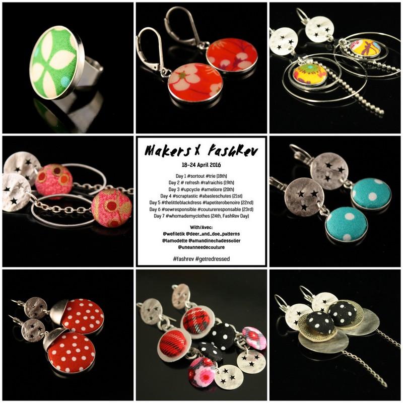 Des bijoux faits à partir de chutes de tissus - Lili et le scarabée rOZ