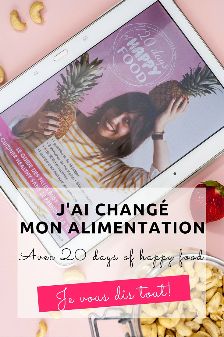 J'ai changé mon alimentation avec le programme 20 days of happy food de Sweet & Sour