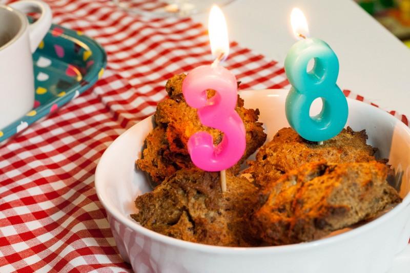 Cookies d'anniversaire vegan et sans gluten