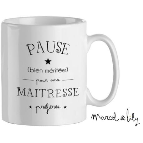 Mug Marcel et Lily - Sélection idées cadeaux à moins de 20 € à offrir à la maitresse