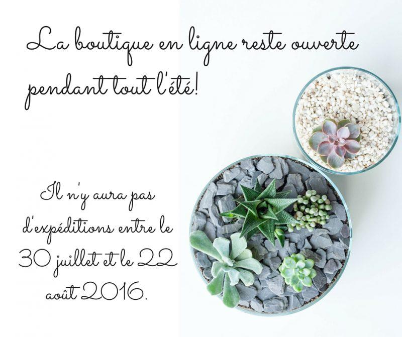 Information pour l'été 2016 sur la boutique en ligne Lili et le scarabée rOZ