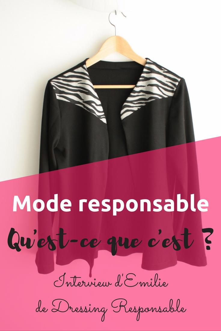 Mode responsable, qu'est-ce que c'est? Retour sur sa définition avec une Interview d'Amilie de Dressing Responsable
