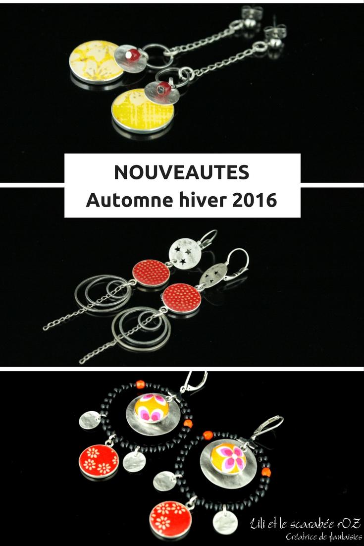 Nouveaux bijoux hauts en couleur à découvrir chez Lili et le scarabée rOZ