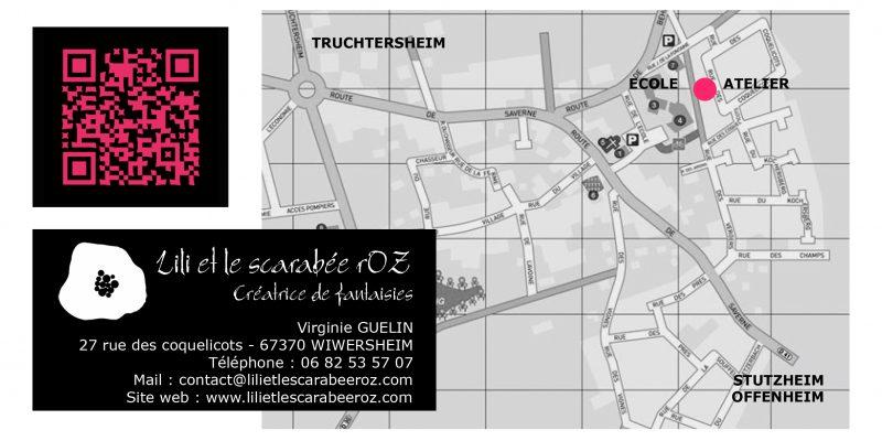 Plan d'accès atelier Lili et le scarabée rOZ