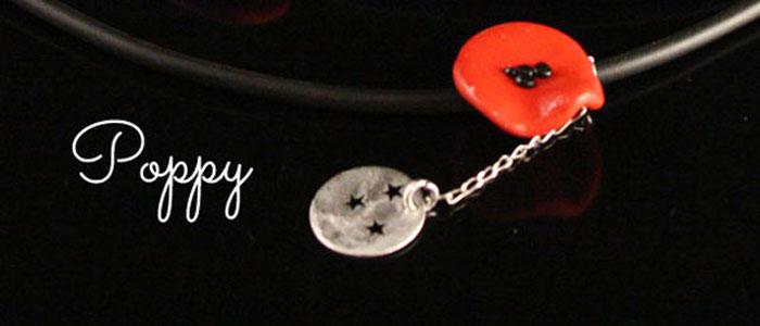 Nouveaux bijoux coquelicots Poppy