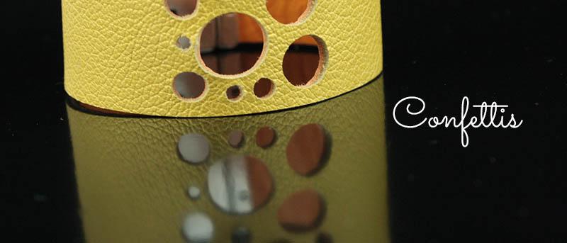 Bijoux cuir Confettis - Lili et le scarabée rOZ