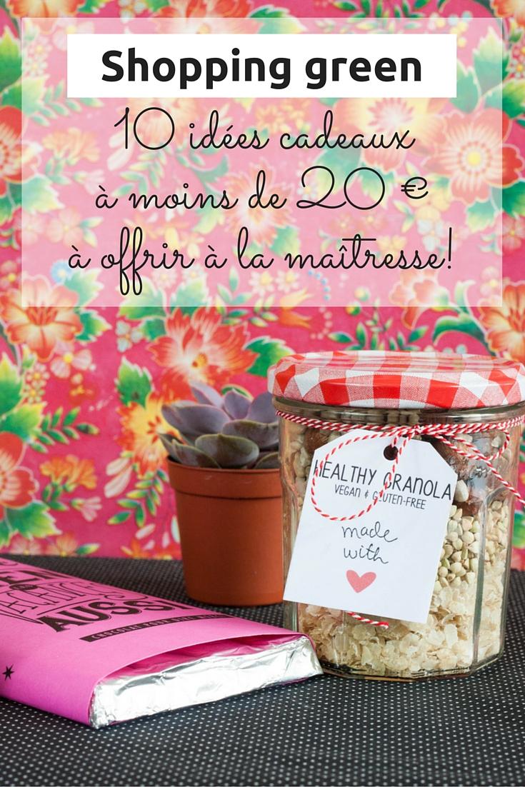 Shopping green : 10 idées cadeaux à moins de 20 euros à offrir à la maîtresse