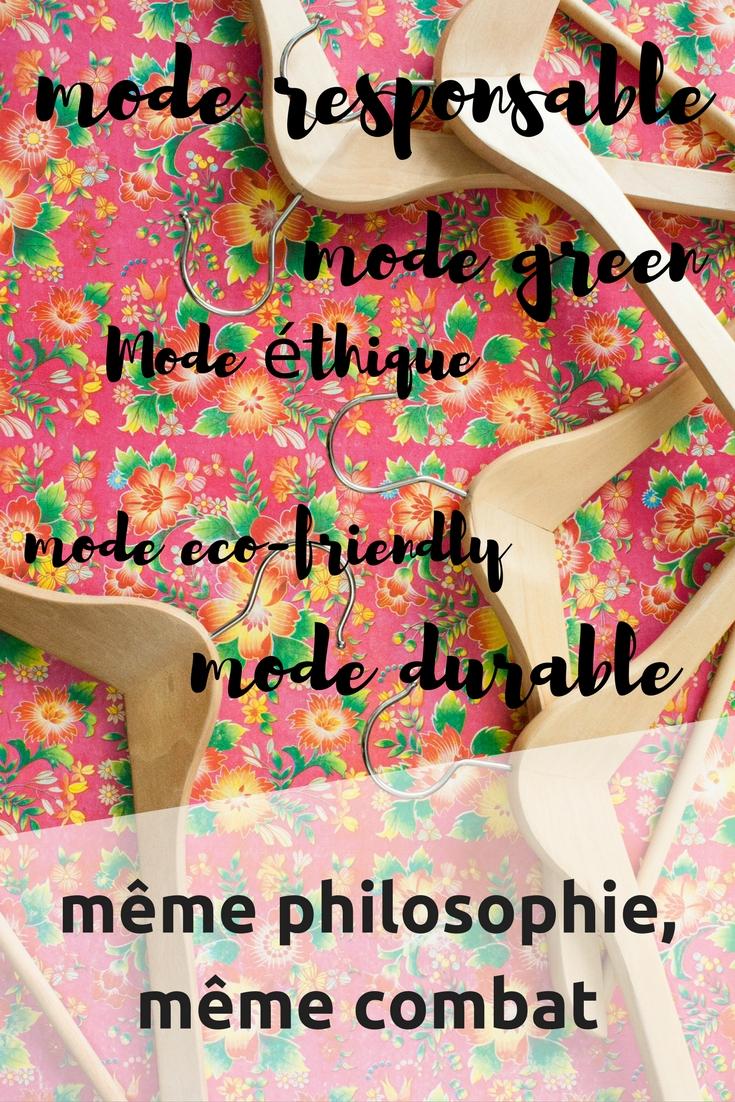 Mode éthique, mode responsable, mode green... quelle est la différence?